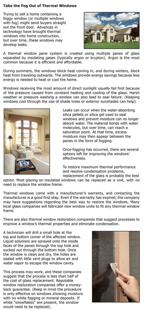 Take the Fog Out of Thermal Windows