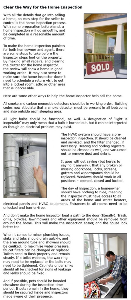 Clear the Way for the Home Inspection