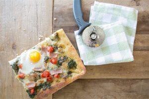 Ham Breakfast Pizza Recipe