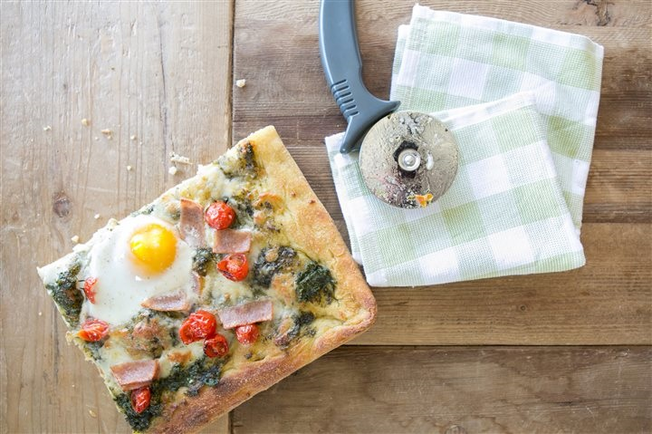 Ham Breakfast Pizza Recipe